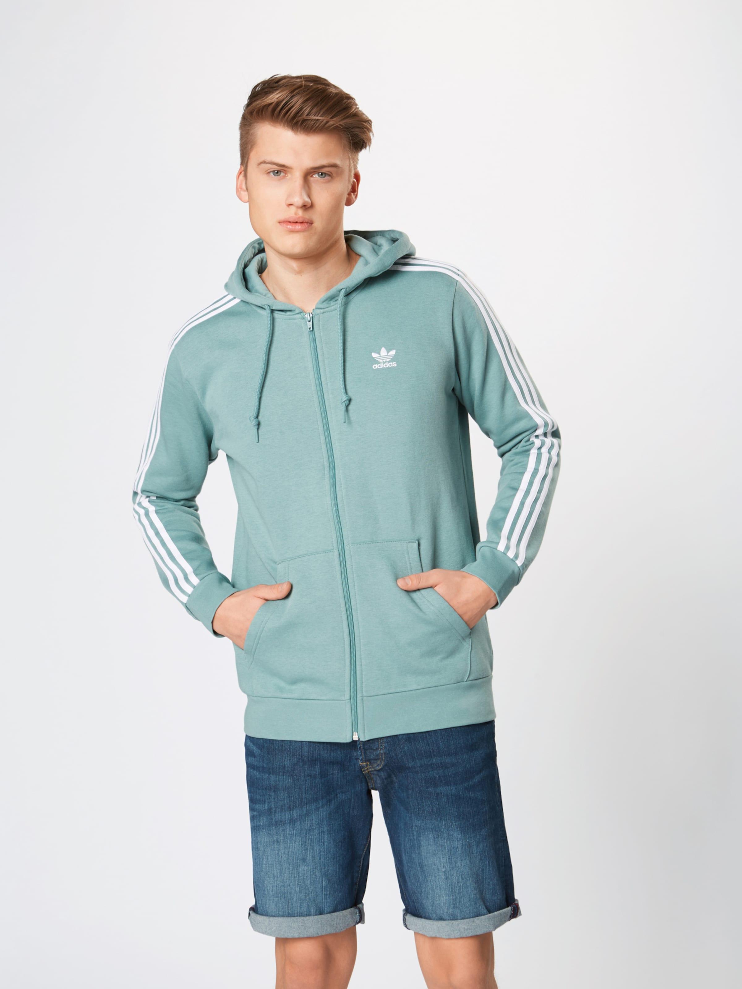 stripes Adidas In Sweatjacke MintWeiß Fz' Originals '3 TKJ53ulF1c