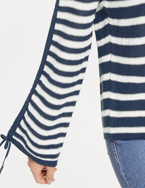 GERRY WEBER Pullover in dunkelblau     weiß  Bequem und günstig 073de0