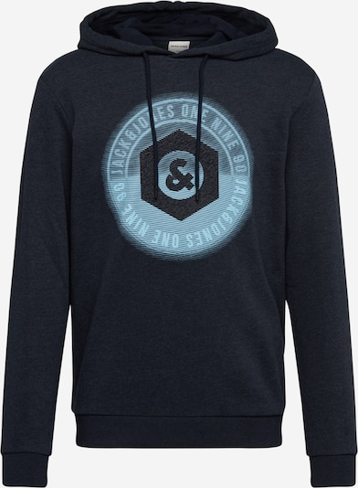 JACK & JONES Sweatshirt in himmelblau / dunkelblau, Produktansicht