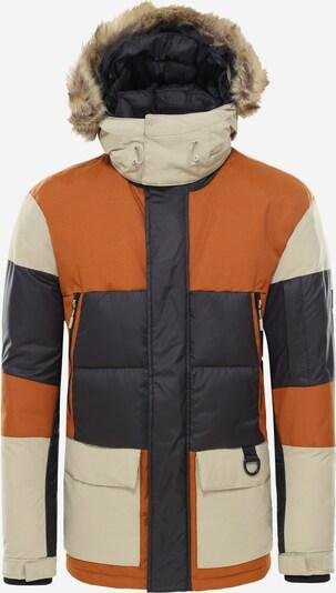 THE NORTH FACE Parka 'V-Stok' in orange / schwarz / naturweiß, Produktansicht