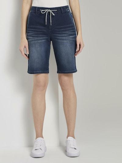 TOM TAILOR Jeans-Shorts in blue denim: Frontalansicht