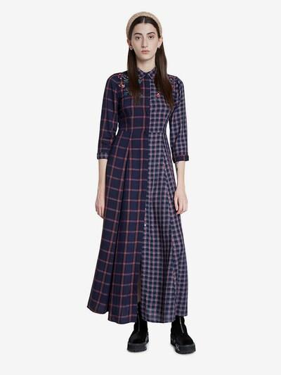 Desigual Kleid 'Vest Genova' in marine / grün / rot, Modelansicht