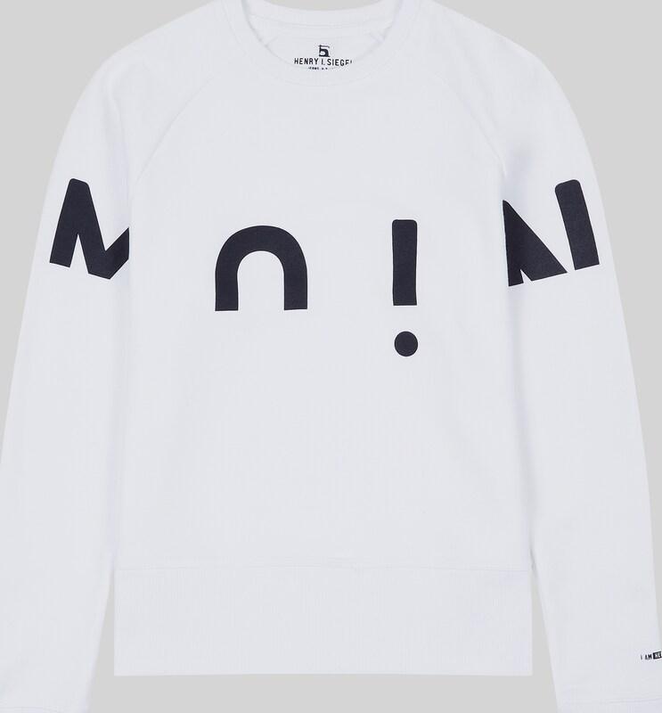 HIS JEANS Sweatshirt in schwarz   weiß  Großer Rabatt