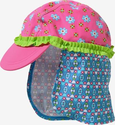 PLAYSHOES Mütze in himmelblau / kiwi / pink, Produktansicht