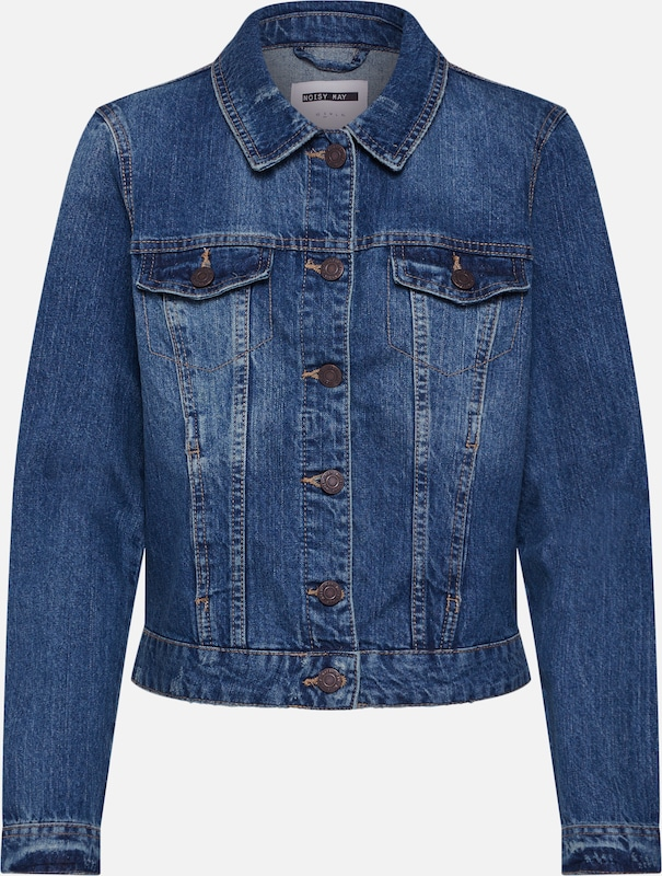 Noisy may Jacke 'NMADA DENIM JACKET NOOS VI024MB' in blue denim, Produktansicht