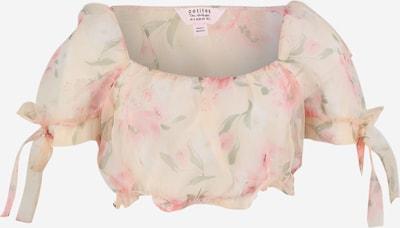 Miss Selfridge (Petite) Tričko - krémová / zelená / růžová, Produkt