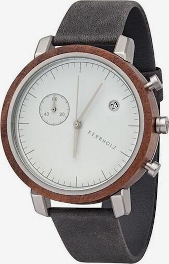 Kerbholz Uhr 'Franz' in basaltgrau, Produktansicht
