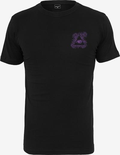 Mister Tee T-Shirt 'Purple Views Tee' in dunkellila / dunkelorange / schwarz: Frontalansicht