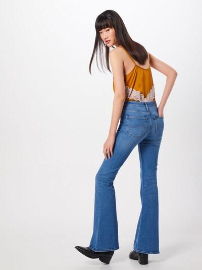 Jeans Lee pe denim albastru: Privire spate