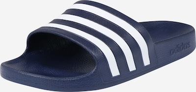 ADIDAS PERFORMANCE Schwimmen Adiletten Hausschuhe in dunkelblau / weiß, Produktansicht