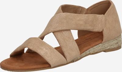 Dorothy Perkins Sandale in braun / silber, Produktansicht