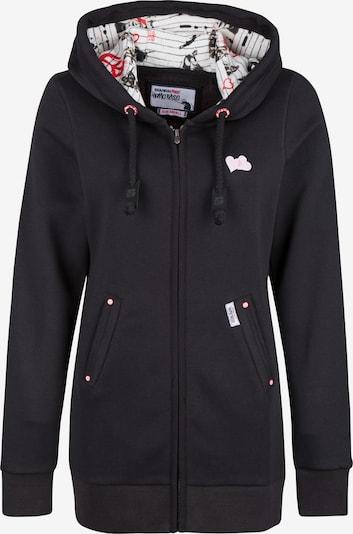 HOMEBASE Sweatjacke in rosa / schwarz / weiß, Produktansicht