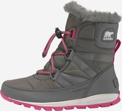 SOREL Winterstiefel 'Youth Whitney Short Lace' in grau / pink, Produktansicht