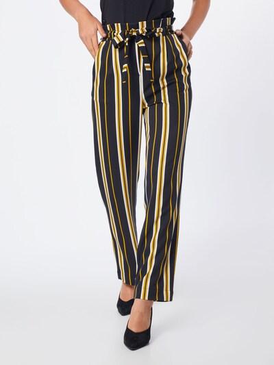 SOAKED IN LUXURY Spodnie 'Malia Pants' w kolorze beżowy / żółty / czarnym: Widok z przodu