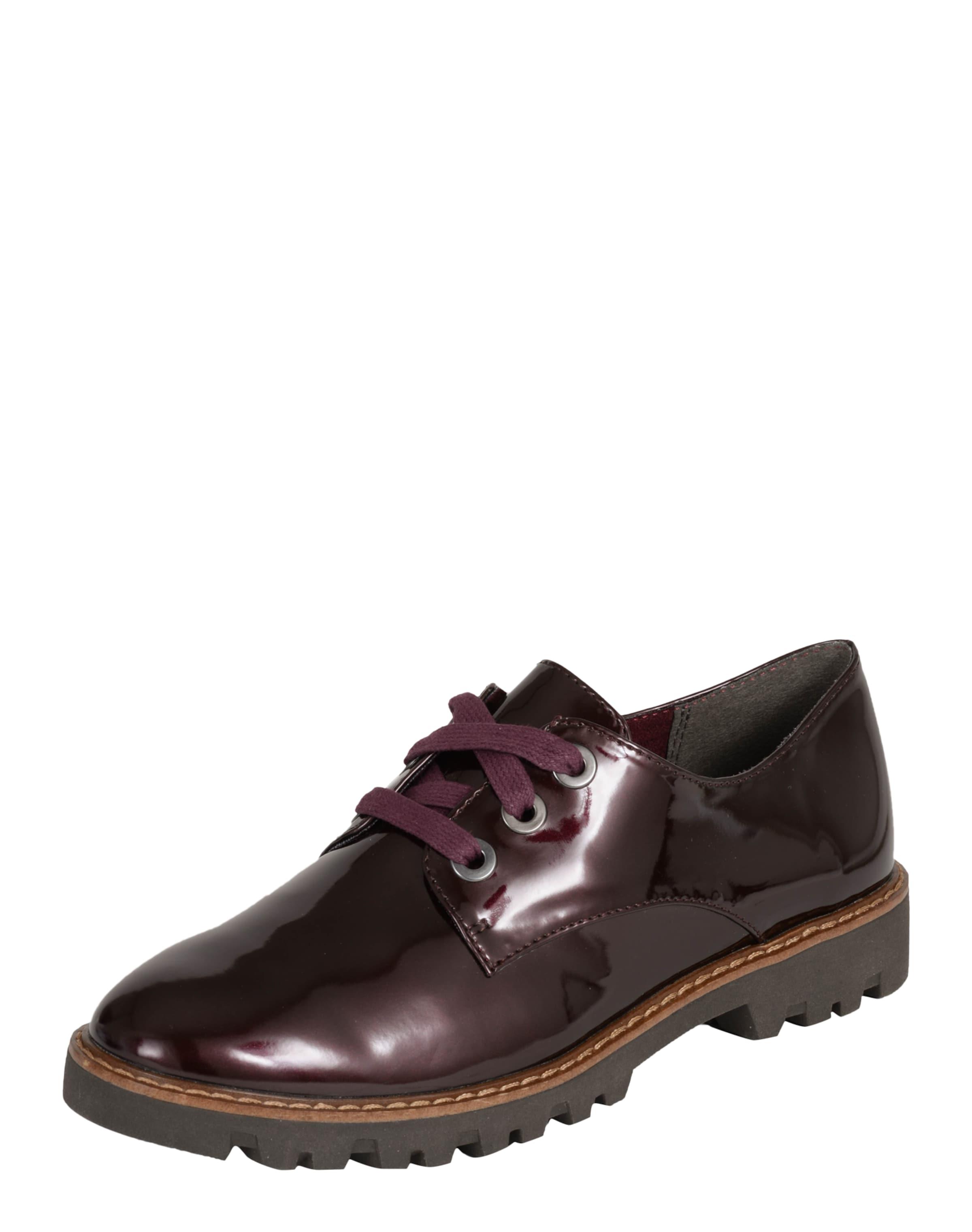 TAMARIS Schnürschuh aus Lack Verschleißfeste billige Schuhe