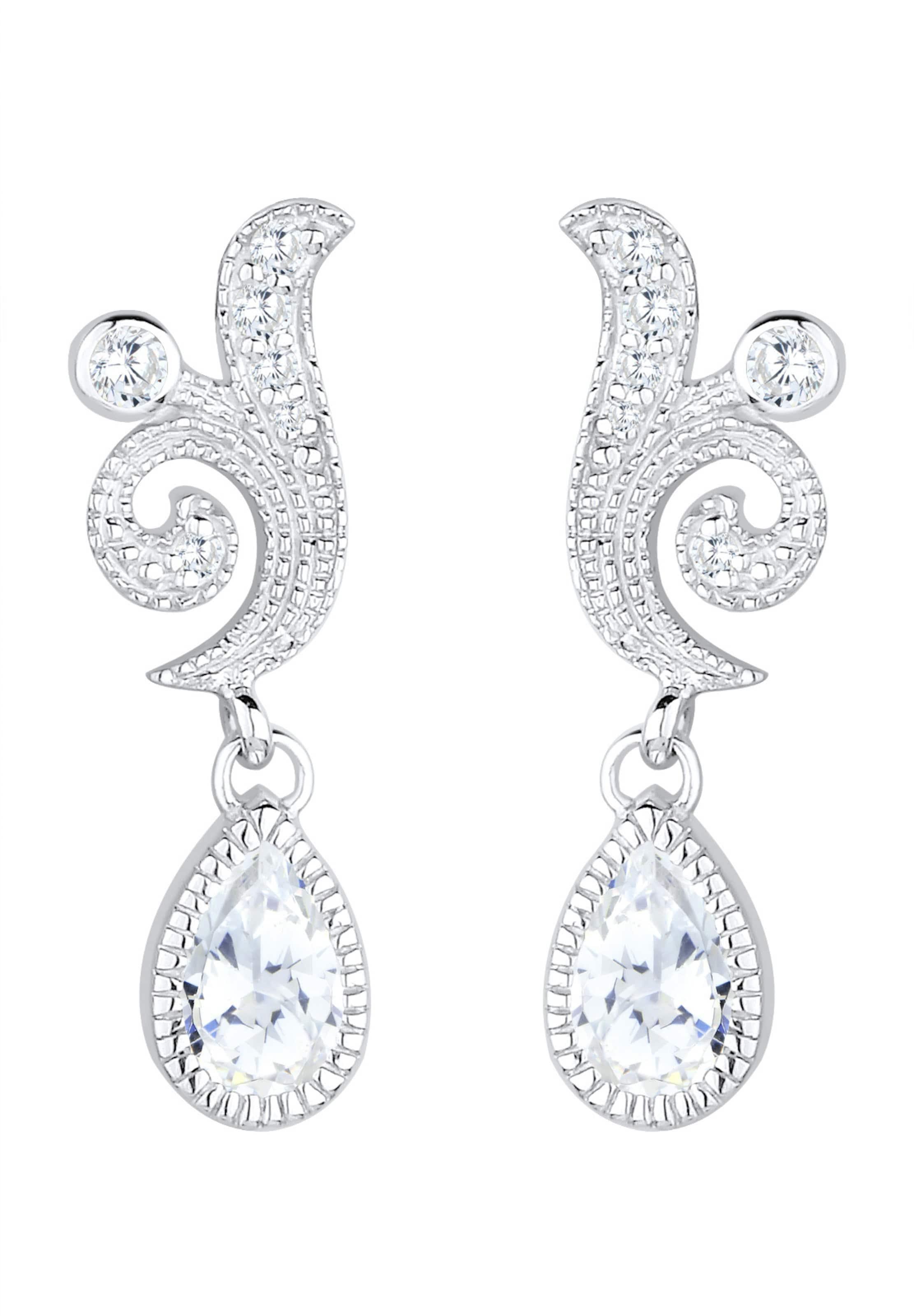 In SilberWeiß 'kristall' Ohrringe Elli Premium ZkuwTOPXil