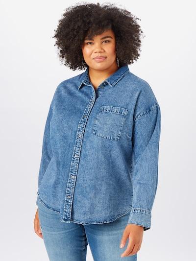 ONLY Carmakoma Blūze zils džinss, Modeļa skats