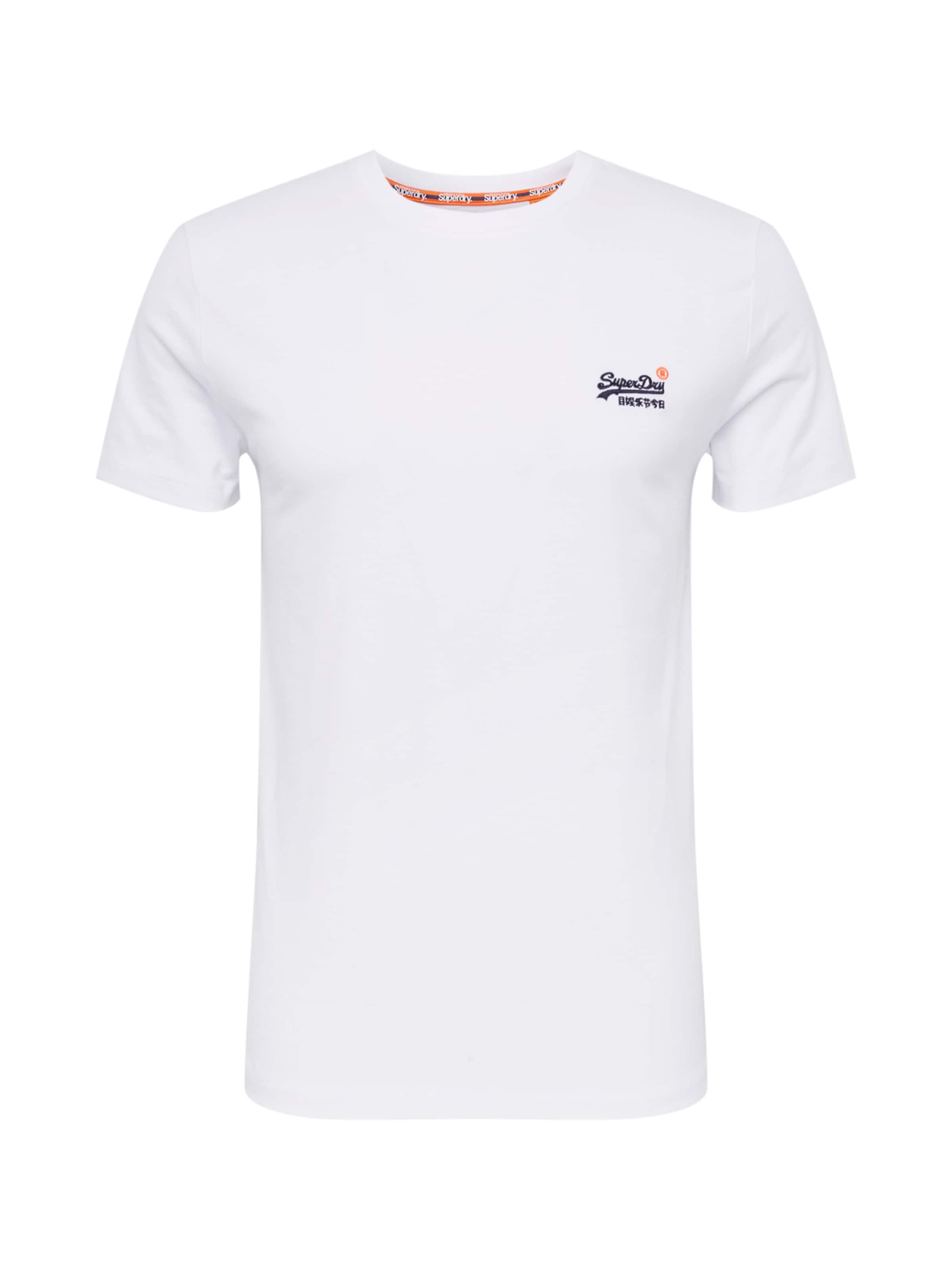 Vintage Tee' Label Shirt 'orange Weiß Superdry In Embroidery ZkOPiwTXu