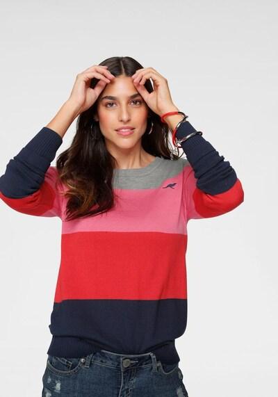 KangaROOS Pullover in nachtblau / graumeliert / pink / rotmeliert, Modelansicht