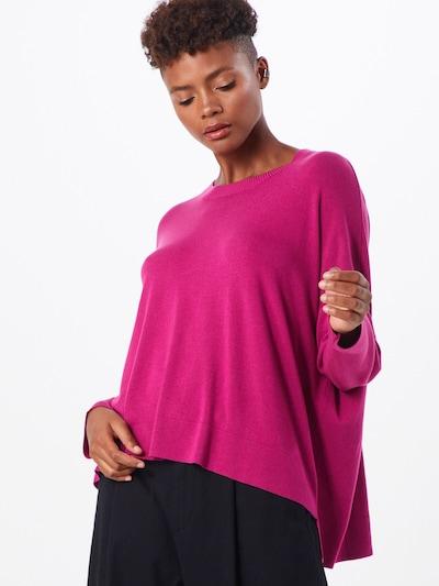 Rich & Royal Pullover 'Crew Neck Hi-low' in pink, Modelansicht