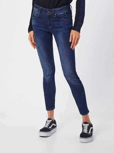 G-Star RAW Mid Skinny Jeans 'Arc 3D' in blue denim, Modelansicht