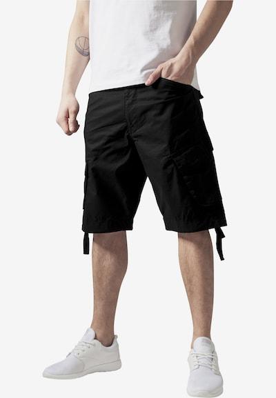 Urban Classics Kargo hlače | črna barva, Prikaz modela