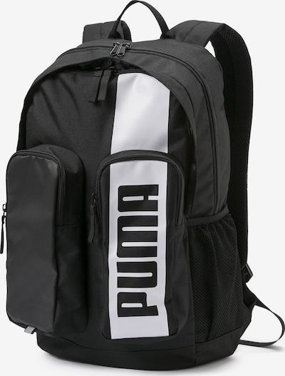 PUMA Rucksack 'Deck II' in schwarz / weiß, Produktansicht