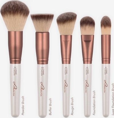 Luvia Cosmetics 'Prime Vegan', Veganes Make-up Pinselset mit Pinselhalter in hellbeige / perlweiß, Produktansicht