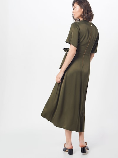Closet London Kleid 'Closet Pleated Wrap Dress' in khaki: Rückansicht