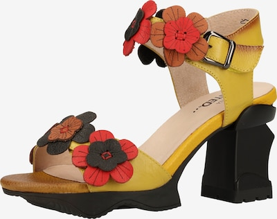 Laura Vita Sandalen met riem in de kleur Geel / Gemengde kleuren, Productweergave