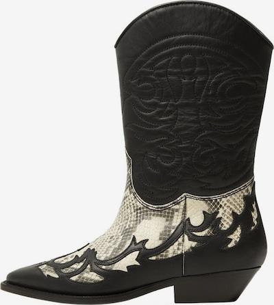 MANGO Buty kowbojskie 'Dalton' w kolorze beżowy / czarnym, Podgląd produktu