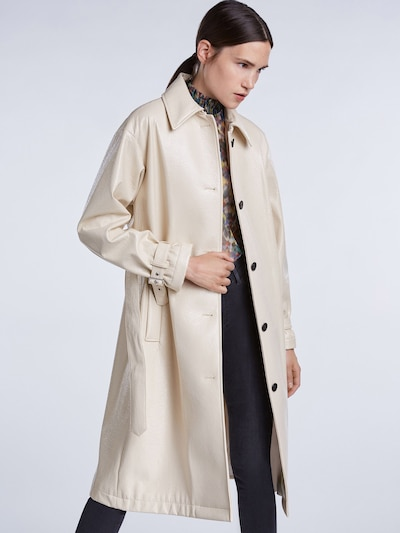 SET Přechodný kabát - krémová: Pohled zepředu