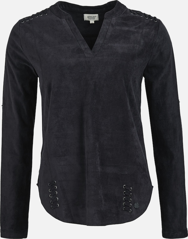 Khujo Shirt 'schwarz' in schwarz  Neu in diesem Quartal