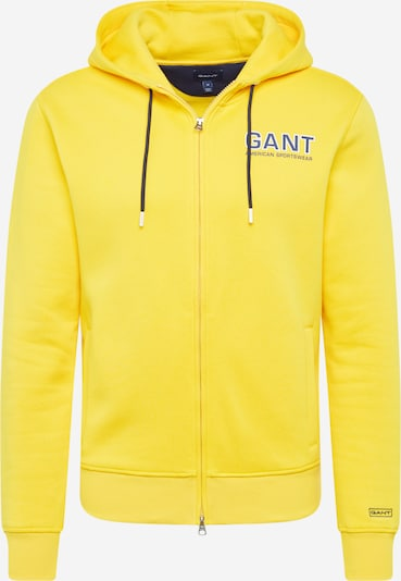GANT Sweatjacke in gelb, Produktansicht