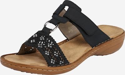 RIEKER Pantofle 'Bridge' - černá / stříbrná, Produkt