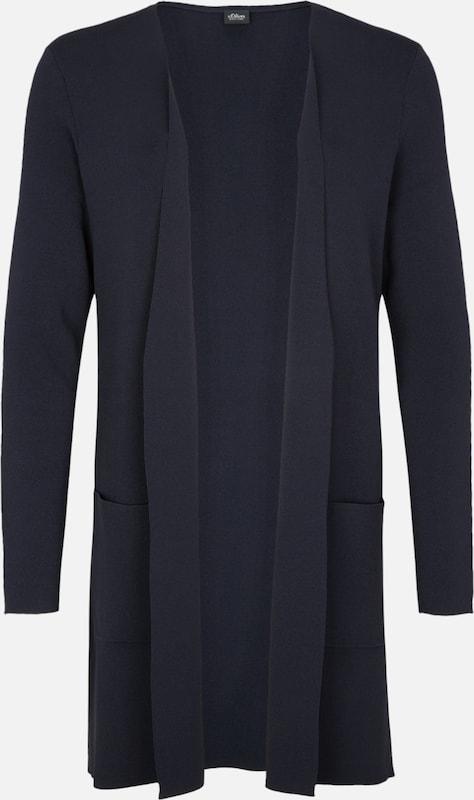 S.Oliver schwarz LABEL Cardigan in nachtblau  Markenkleidung für Männer und Frauen