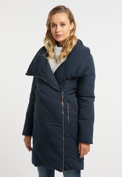 DREIMASTER Wintermantel in marine, Modelansicht