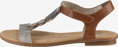 RIEKER Remienkové sandále - hnedé / sivá, Produkt