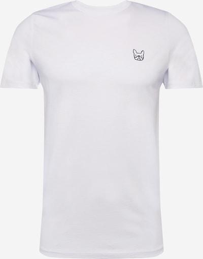 Tricou 'JJEDENIM LOGO TEE SS O-NECK  NOOS' JACK & JONES pe alb, Vizualizare produs