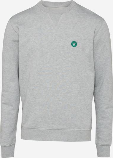 WOOD WOOD Sweatshirt in grau / dunkelgrün, Produktansicht