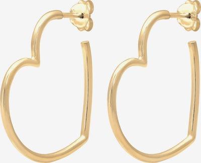 ELLI Ohrringe 'Herz' in gold: Frontalansicht
