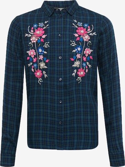 TOM TAILOR Blusen & Shirts Karierte Bluse mit Blumenmuster in dunkelblau, Produktansicht