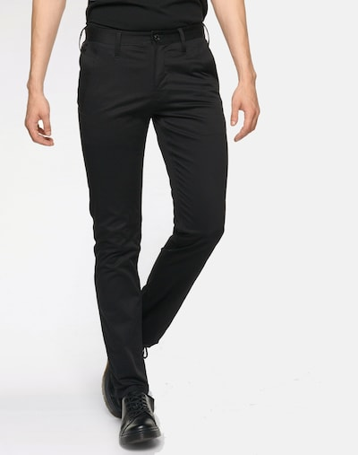 G-Star RAW Chino 'Bronson Slim' in schwarz: Frontalansicht
