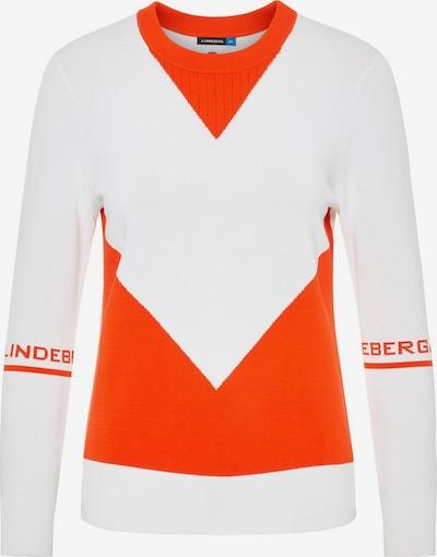 J.Lindeberg Sporttrui in de kleur Sinaasappel / Wit, Productweergave