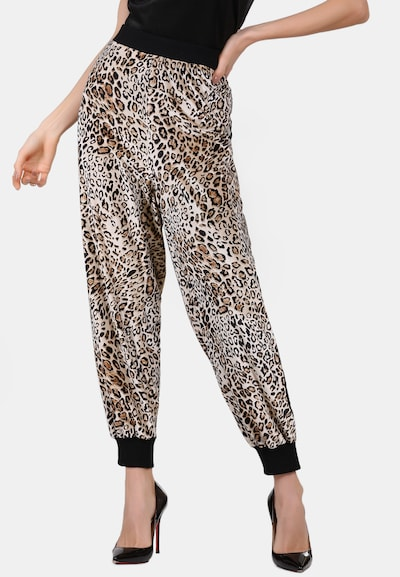 Pantaloni faina pe bej / maro / negru, Vizualizare model
