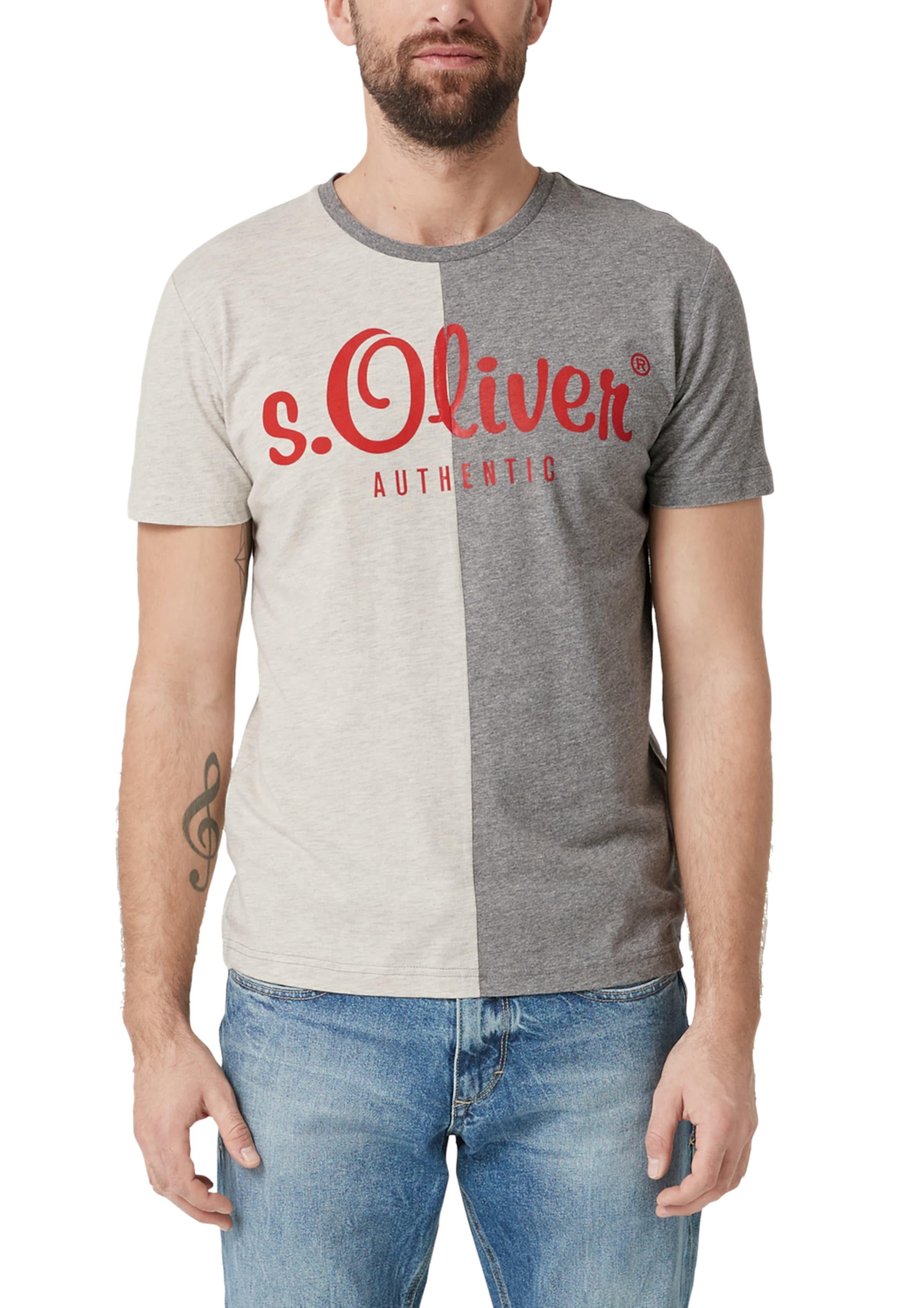 oliver shirt Rot S Red BeigeGrau T In Label SMVqUGLpjz
