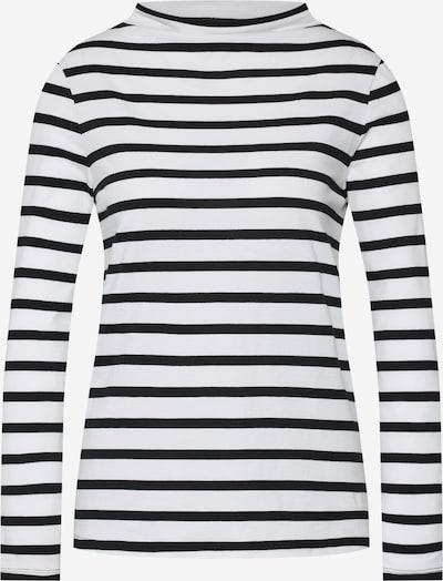 ESPRIT Shirt 'OCS Turtlenck' in schwarz / offwhite, Produktansicht