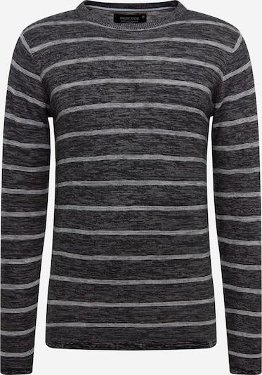 INDICODE JEANS Pullover 'Luscombe' in grau / weiß, Produktansicht