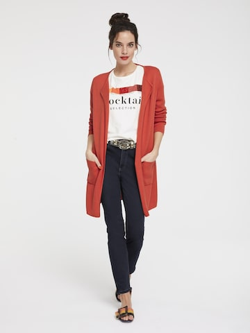 heine Knit Cardigan in Red