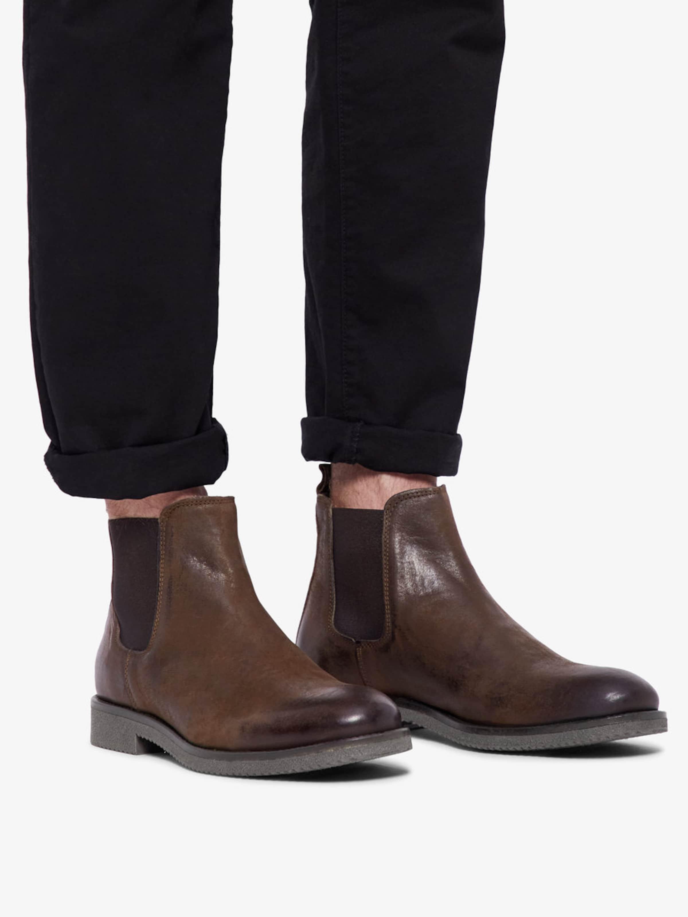Boots In Dunkelbraun In Bianco Boots Bianco Jc3TFKl1